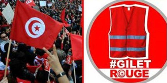 Sarı Yeleklilerden sonra Tunus'ta 'Kırmızı Yelekliler' çağrısı