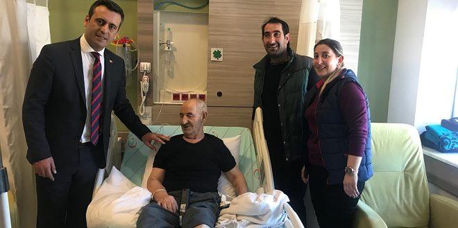 Yakup Törk Devlet hastanesinde yatan hastaları ziyaret etti