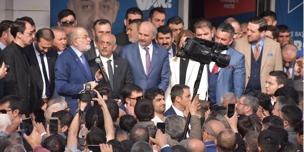 Karamollaoğlu Dilovasında Dalkılıçın başkanlığını kutladı