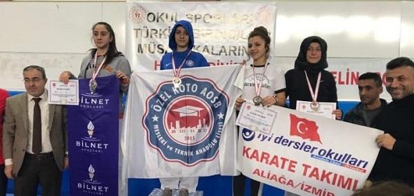 KOTO öğrencisi Yıldız Türkiye Karate Şampiyonu oldu