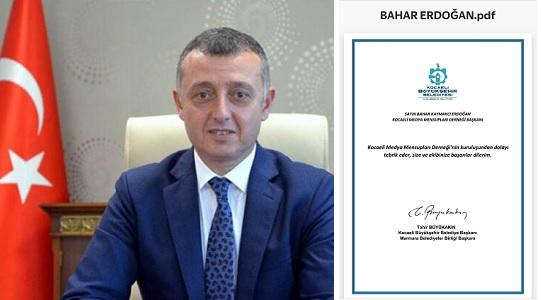 KBB Başkanı Büyükakın'dan KOMECE'ye kutlama