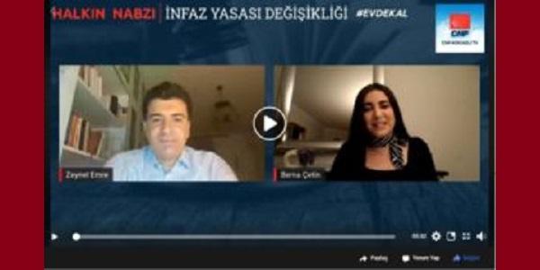 CHP Kocaeli infaz yasasıyla ilgili canlı yayın yaptı