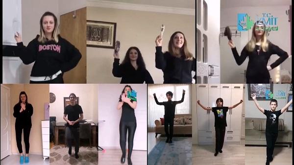 Sahne İzmit ailesinin dans tutkusu 19 Mayıs'ta koronavirüs tanımadı