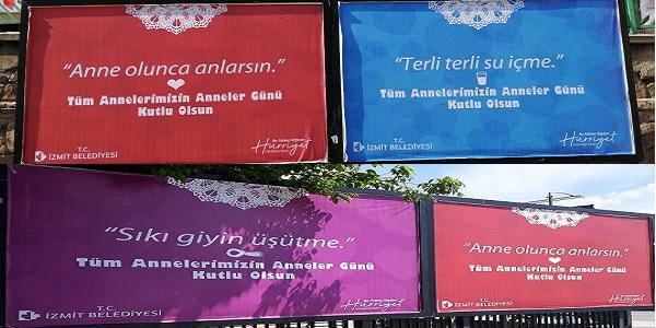 Photo of Anneler günü için anne şefkatinde afişler İzmit'te
