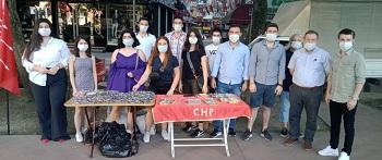 CHP'li gençler görev başında