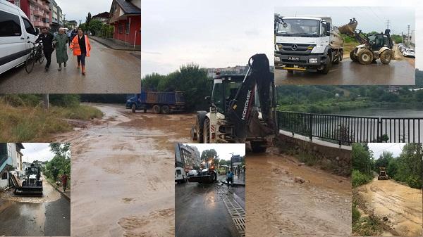 Photo of Sağanak Yağmur sonrası belediye ekipleri vatandaşı şaşırttı
