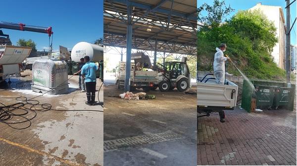 İzmit belediyesi Kurbanlık alanlarını dezenfekte etti