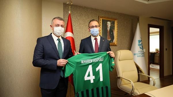 Bakan Kasapoğlu Başkan Büyükakın'ı makamında ziyaret etti