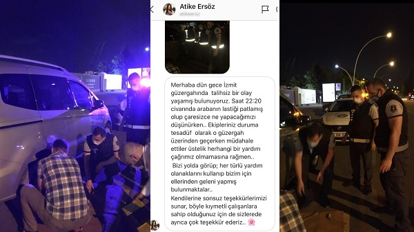 Photo of Bayan şoförün imdadına Büyükşehir zabıtası yetişti