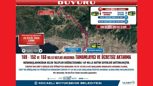 Photo of Kocaeli'de HAT 169 – 152 ve 153'de aktarmalı uygulama başlıyor