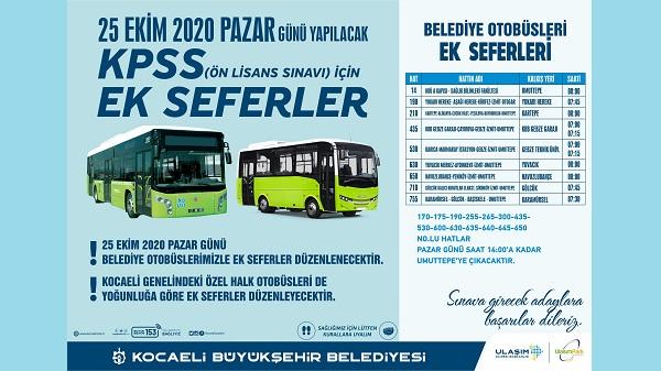 Photo of Kocaeli Büyükşehir KPSS için ek seferler düzenleyecek