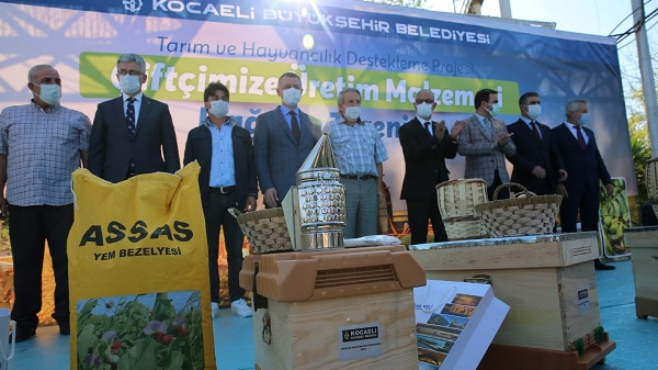 Kocaeli Büyükşehirden arıcılara arı kovanı desteği