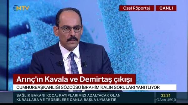 """Photo of Kalın: """"Bülent Arınç kendi görüşlerini ifade ediyor"""""""
