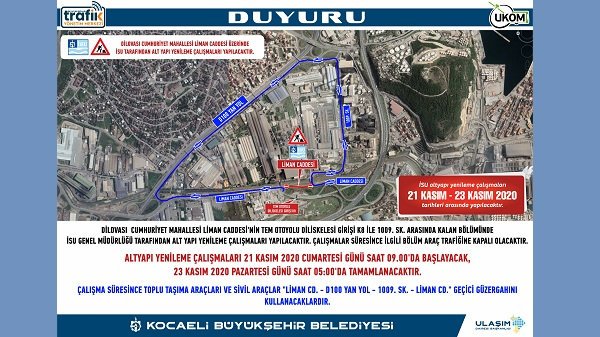 Photo of Dilovası'nda geçici güzergah uygulaması