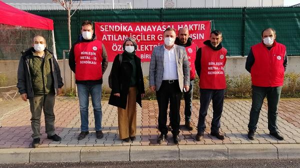 EMEP Kocaeli direnişte olan işçileri ziyaret etti