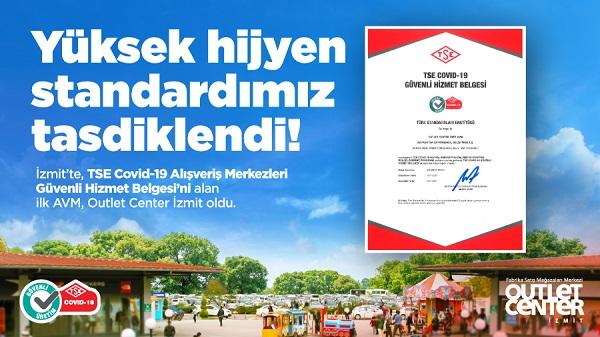 Photo of Outlet Center İzmit Güvenli Hizmet Belgesi'ni İzmit'te ilk alan AVM