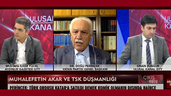 """Photo of Perinçek: """"Vatan savaşına karşı çıkanların düştüğü hal"""""""