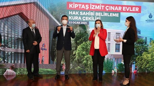 Kiptaş İzmit Çınar Evler'in hak sahipleri kurayla belirlendi