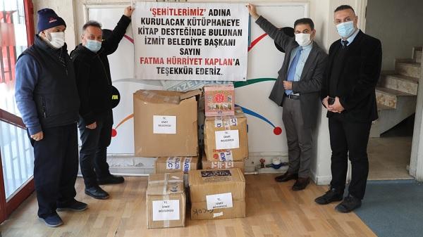 Şehit Kütüphanelerine İzmit Belediyesinden Kitap Desteği