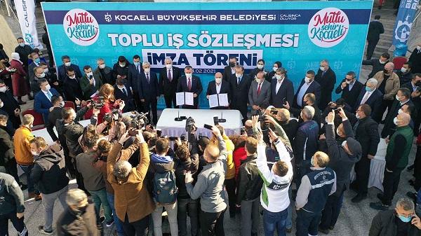 Photo of Hizmet-İş Kocaeli Büyükşehir'de toplu iş sözleşmesini imzaladı