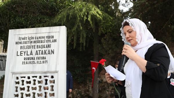 Leyla Atakan ve çalışma arkadaşları mezarı başında anıldı