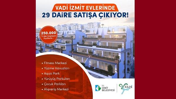 Vadi İzmit evlerinde 29 daire yarın satışa çıkıyor