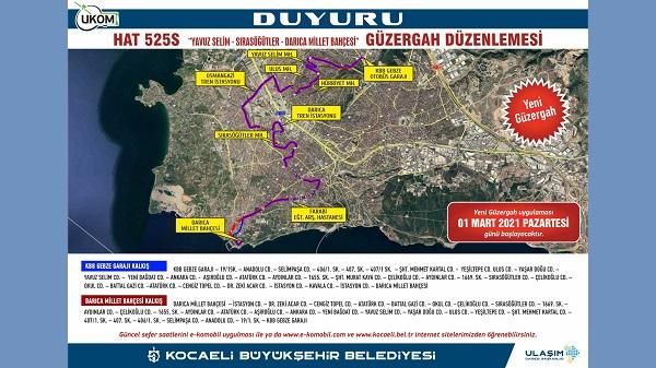 Photo of Gebze-Darıca arasında Hat 525S seferleri yarın başlıyor
