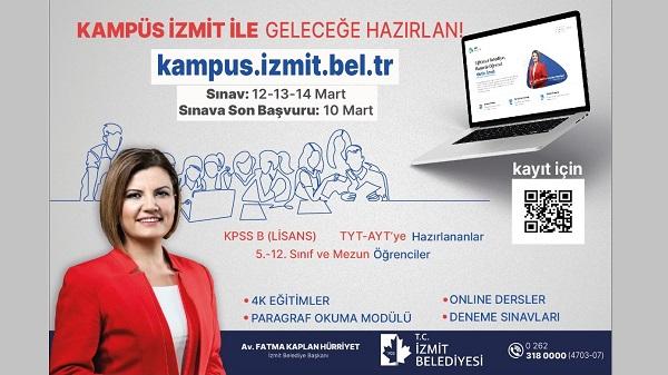 Photo of İzmit Belediyesinden on binlerce öğrenciye KPSS-YKS-LGS kursu