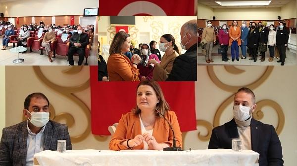 Photo of Başkan Hürriyet Halk Market'in detaylarını Muhtar ve Kooperatiflere anlattı