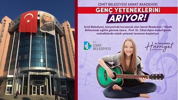 Photo of İzmit Belediyesi Sanat Akademisi genç yeteneklerini arıyor
