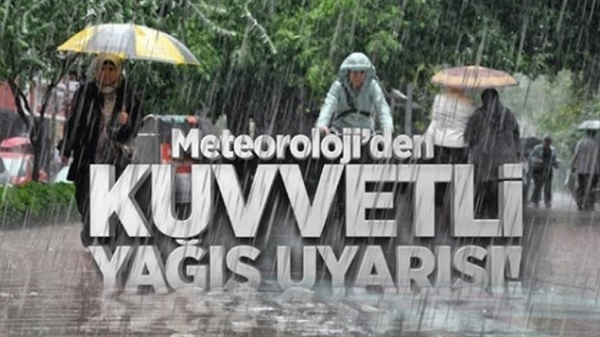 Marmara'nın Doğusunda Kuvvetli Yağışlar Bekleniyor