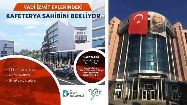Vadi İzmit'te kafeterya için başvurular 17 Mart'ta bitiyor