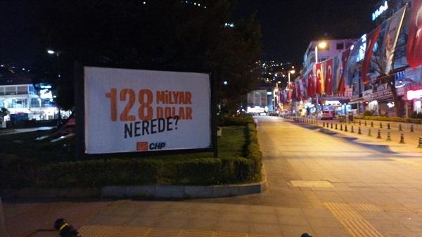 128 milyar dolar nerede' afişleri