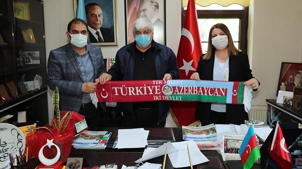 Başkan Hürriyet Azerbaycan Dernekleri Federasyonu'na üye oldu