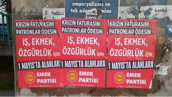 Emek Partisi Emekçi Halkımızı 1 Mayıs'a çağırıyor