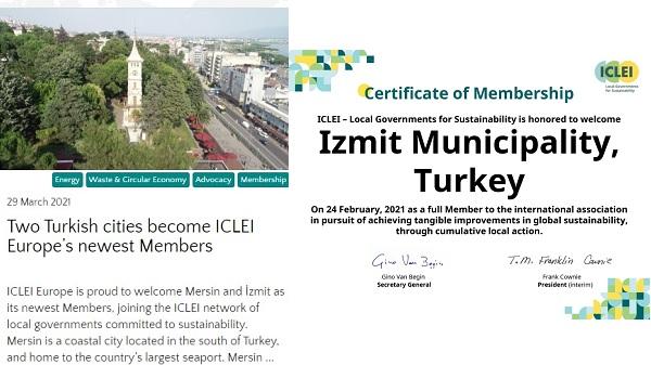ICLEI, İzmit Belediyesinin başarısını dünyaya duyurdu