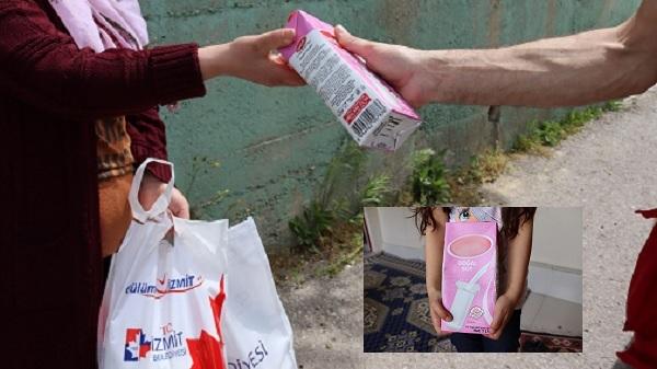 İzmit Belediyesinin çocuklara süt desteği devam ediyor
