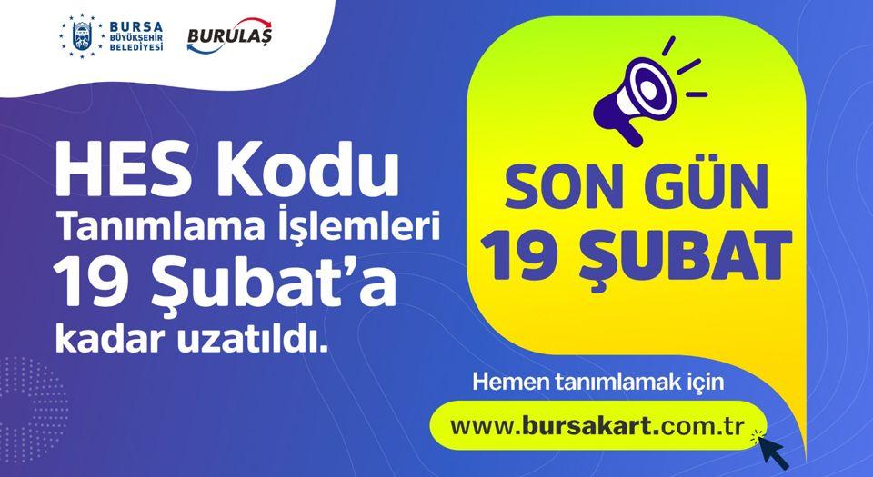 Photo of Bursa'da ulaşım kartlarında HES kodu için süresi uzatıldı